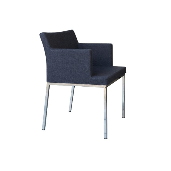 Soho Metal Base Wool Guest Chair by B&T Design
