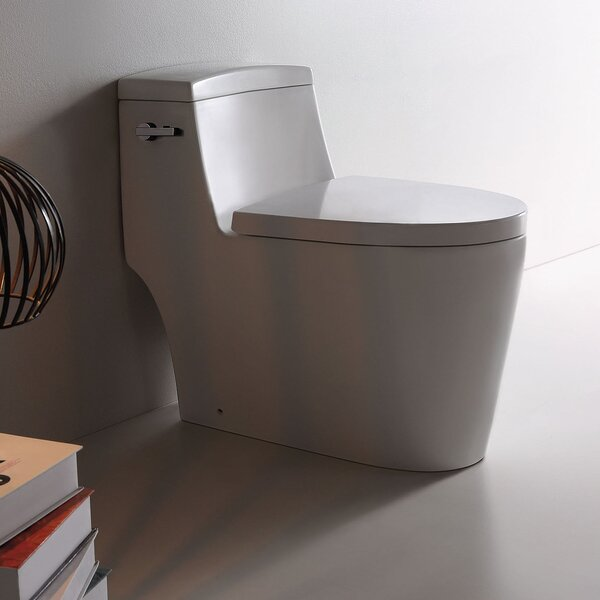 Dual Side-Flush 1.2 GPF Elongated One-Piece Toilet by Jade Bath