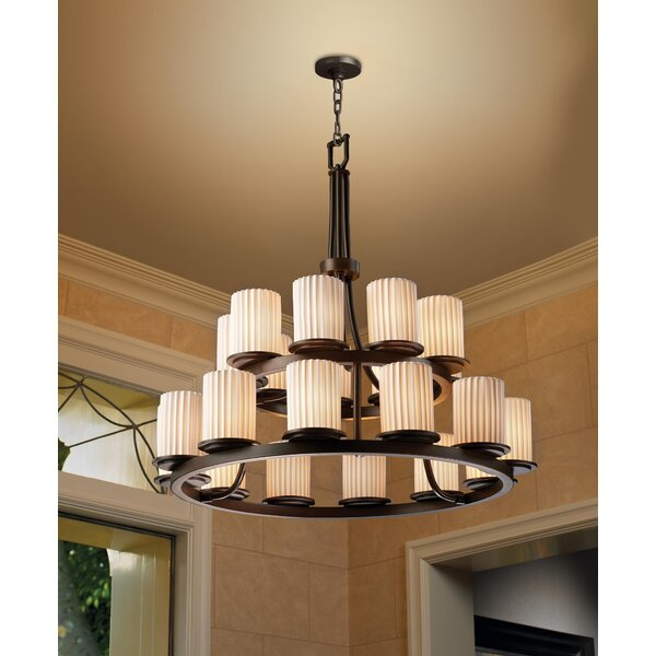 Devaughn 21 - Light Shaded Tiered Chandelier by Darby Home Co Darby Home Co