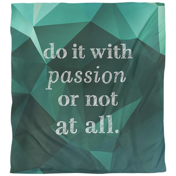 Passion Inspirational Quote Single Duvet Cover