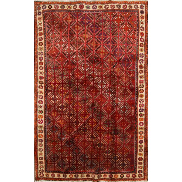 One-of-a-Kind Litchfield Kashkoli Shiraz Vintage Persian Hand-Knotted 5'2