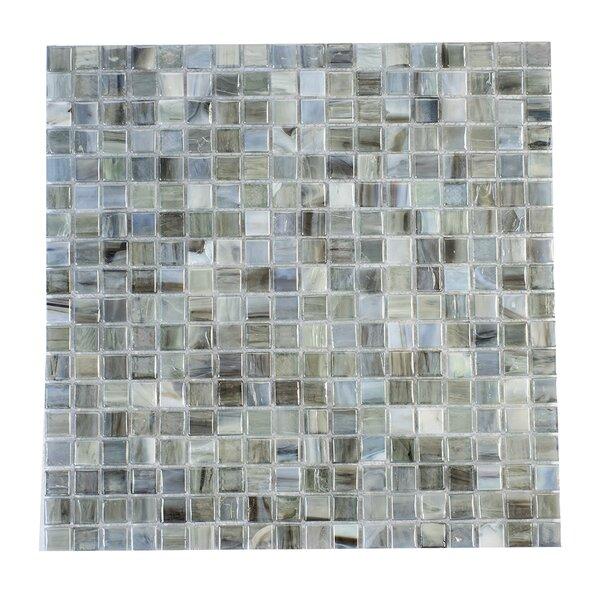 Piazza Azzurro 0.5 x 0.5 Glass Mosaic Tile by Byzantin Mosaic