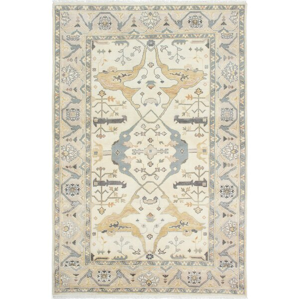 One-of-a-Kind Doggett Hand-Knotted Cream Area Rug by Isabelline
