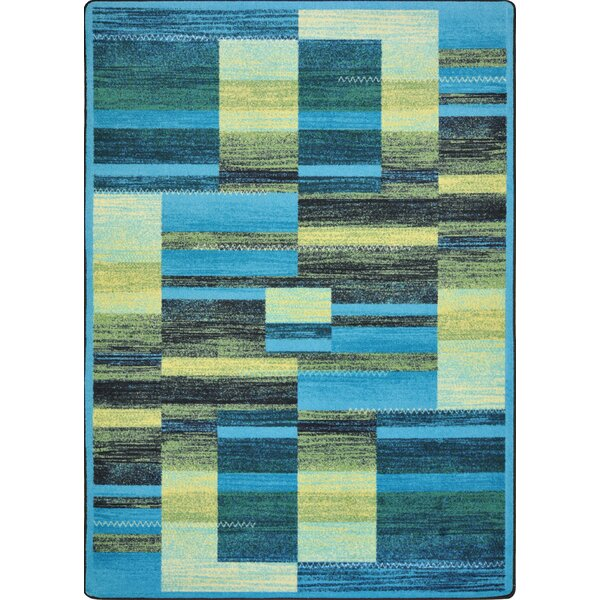 Hand-Tufled Blue/Yellow Area Rug by The Conestoga Trading Co.