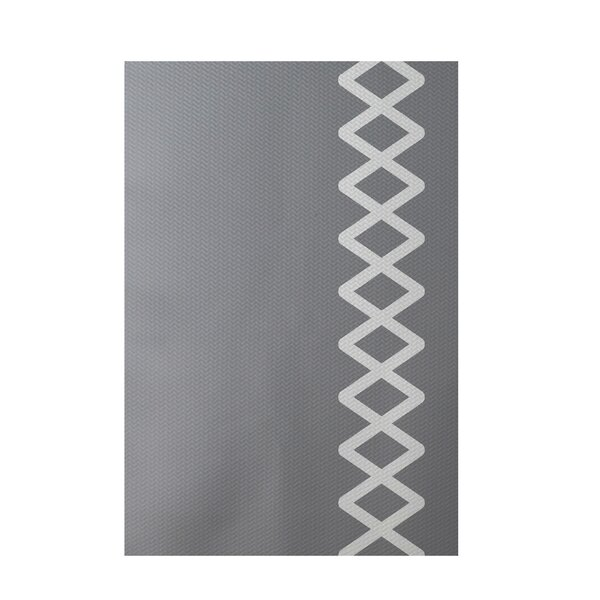 Geometric Gray Indoor/Outdoor Area Rug by e by design