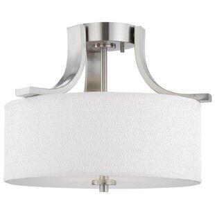Brushed nickel ceiling light wayfair save aloadofball Choice Image