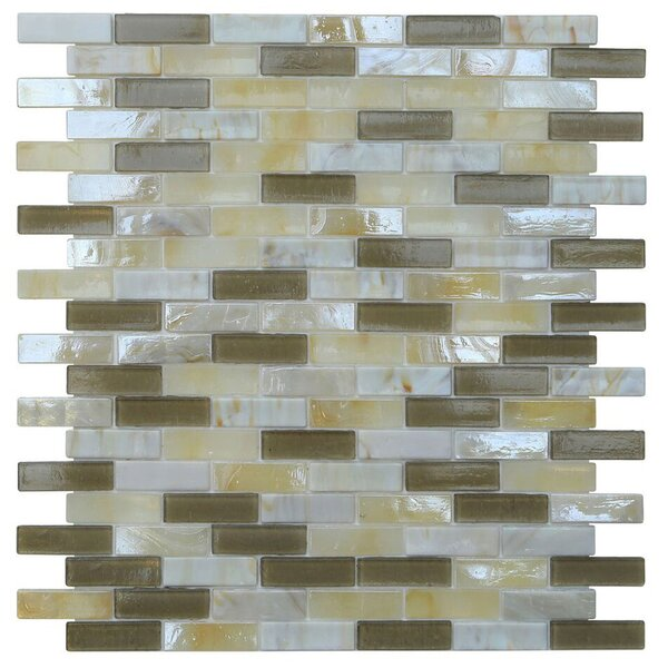 Opal 0.63 x 1.88 Glass Mosaic Tile in Casablanca by Kellani
