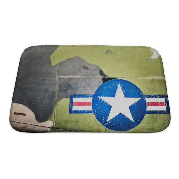 Patriotic Airplane with United States Air Force Sign Bath Rug by Gear New