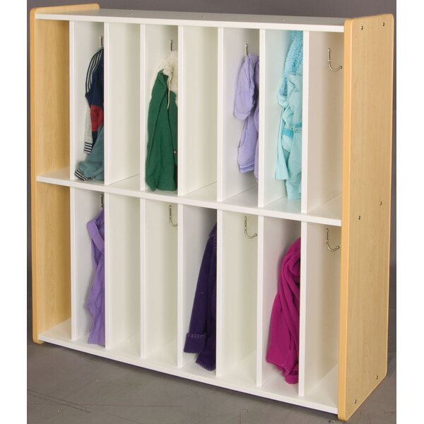 1000 Series 2 Tier 8 Wide Coat Locker by TotMate
