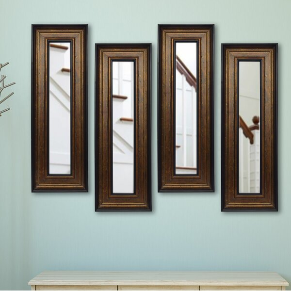 4 Piece Kincannon Panels Mirror Set (Set of 4) by Charlton Home