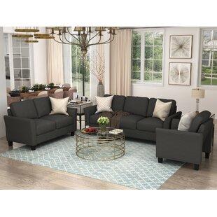 Etolia 3 Pieces Foam Living Room Set by Red Barrel Studio®