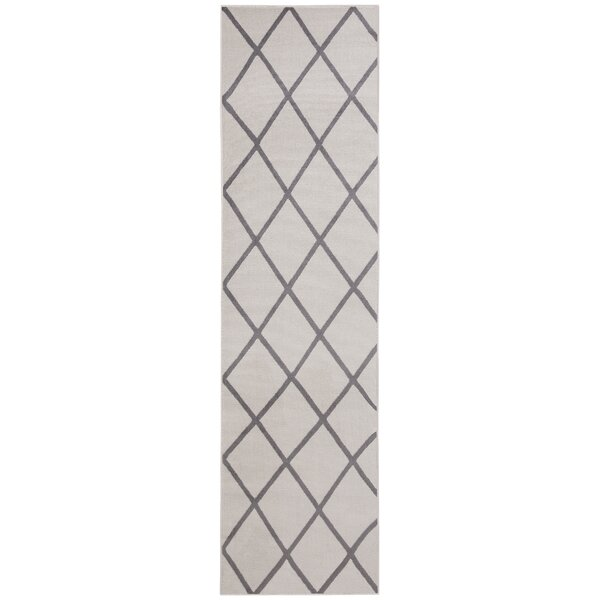 Kester Medallion Design Gray/Ivory Area Rug by Wrought Studio