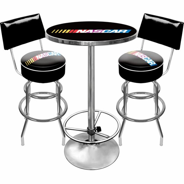 NASCAR Game Room 3 Piece Pub Table Set by Trademark Global Trademark Global