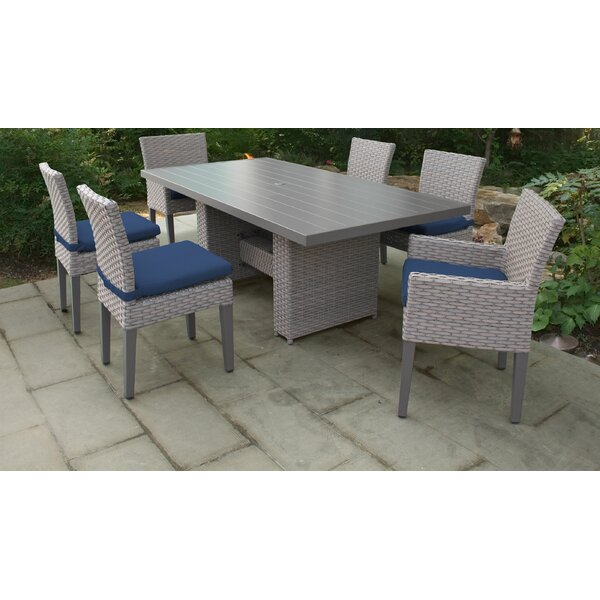 Rochford 7 Piece Outdoor Patio Dining Set with Cushions by Sol 72 Outdoor