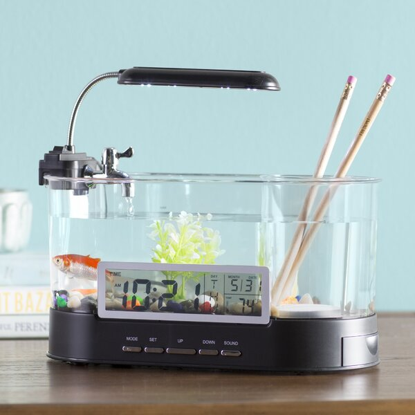 Beaudry 1.8 Gallons USB Desktop Aquarium Kit by Archie & Oscar