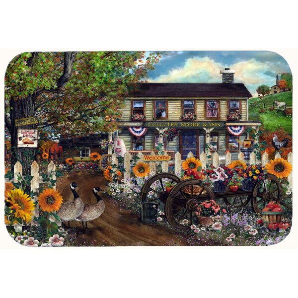Sunflowers and The Old Country Store Kitchen/Bath Mat by Caroline's Treasures