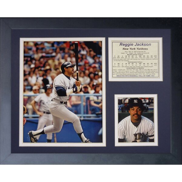 Reggie Jackson Framed Memorabilia by Legends Never Die
