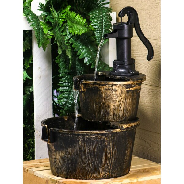 Two Tier Pump and Barrel Fountain by Alpine