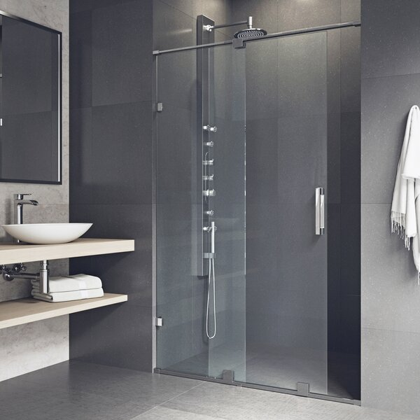 Ryland 62 x 72.75 Single Sliding Frameless Shower Door by VIGO