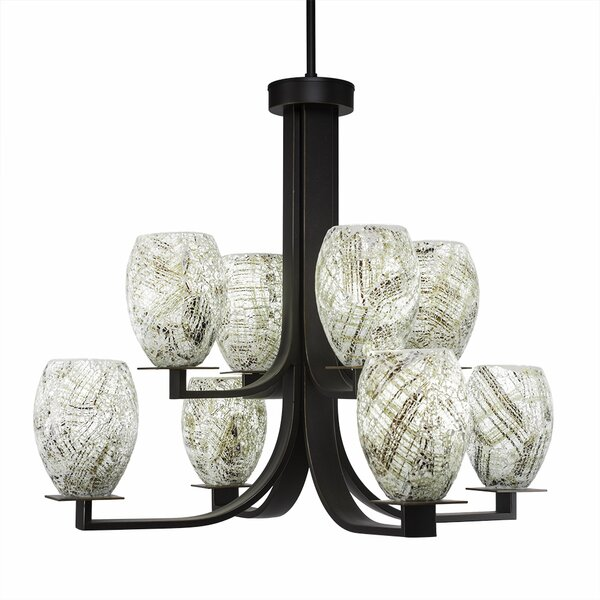 Besaw 8-Light Shaded Tiered Chandelier by Latitude Run Latitude Run