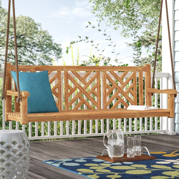 Acworth Teak Porch Swing by Red Barrel Studio Red Barrel Studio