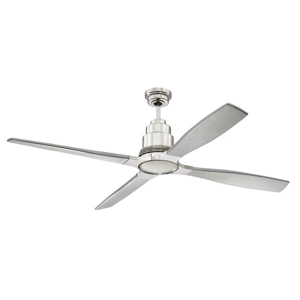 60 Karina 4 Blade Ceiling Fan with Remote by Brayden Studio