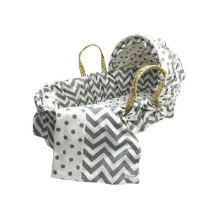 Compare & Buy Moses Basket With Chevron Bedding And Canopy ByWendy Anne