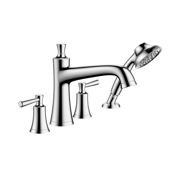 Joleena Double Handle Deck Mounted Roman Tub Faucet Trim with Diverter and Handshower by Hansgrohe Hansgrohe