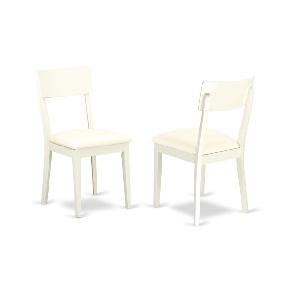 Ferrante Solid Wood Upholstered Dining Chair (Set of 2) by Ebern Designs