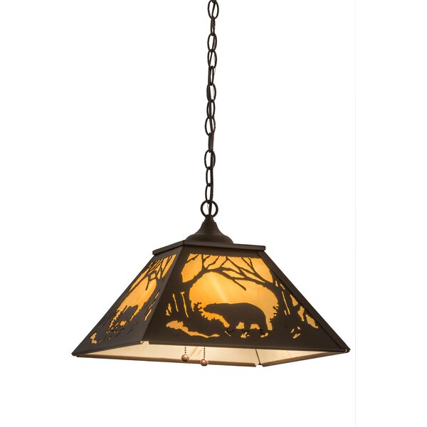 Falcone 2 - Light Lantern Geometric Chandelier by Millwood Pines Millwood Pines