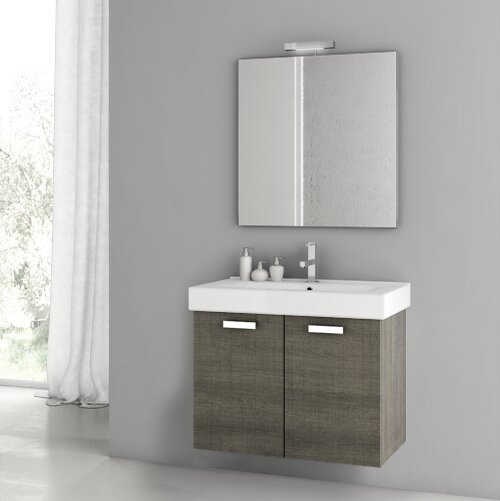 Cubical 30.1 Single Bathroom Vanity Set with Mirror by ACF Bathroom Vanities