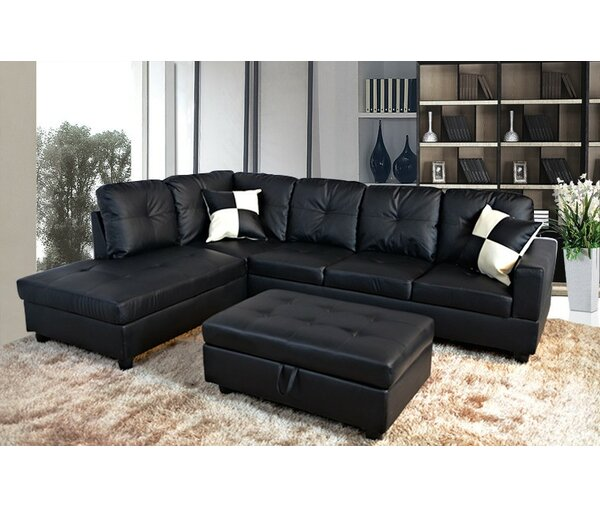 Perfect Priced Faunce Sectional with Ottoman by Winston Porter by Winston Porter