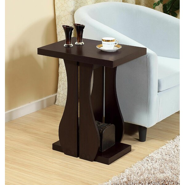 Ellesha Abstract End Table With Storage By Ebern Designs