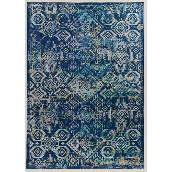 Emanuel Navy/Teal Area Rug by Astoria Grand