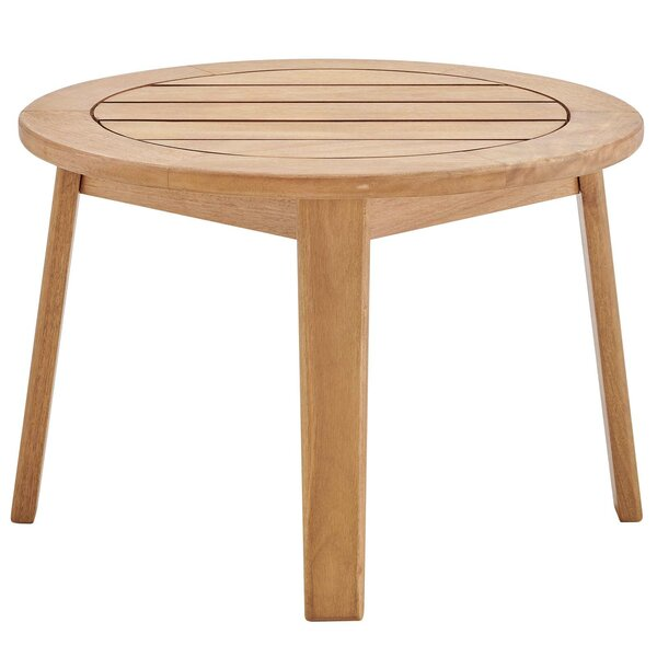 Alaric Patio Wooden Side Table by Rosecliff Heights