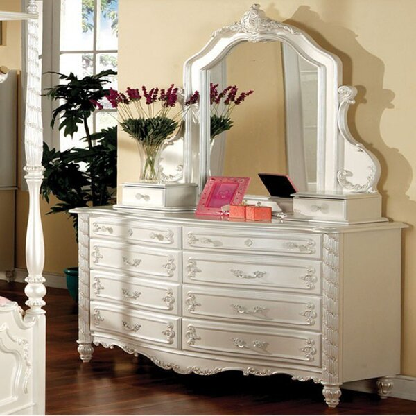 Seligman 8 Drawer Double Dresser with Mirror by Rosdorf Park