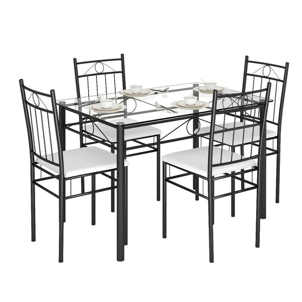 Oriskany 5 Piece Dining Set by Winston Porter