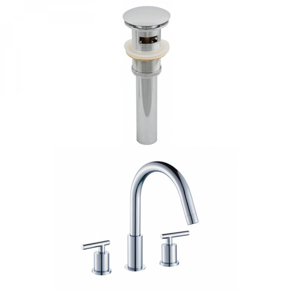 Off Center Brass Faucet Set with Drain