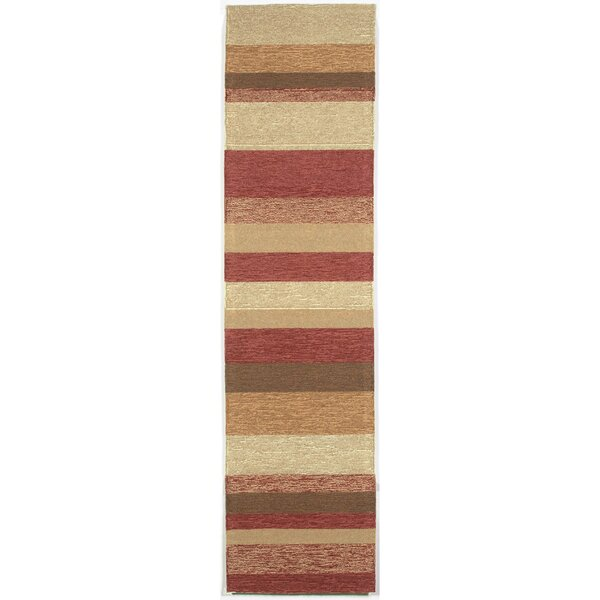 Derby Red Stripe Outdoor Rug by Ebern Designs