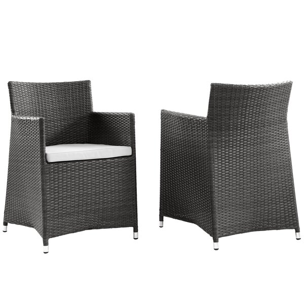 Everett Patio Arm Chair with Cushion (Set of 2) by Modway