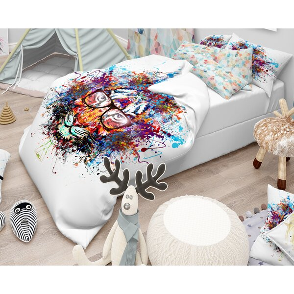 Colorful Tiger Duvet Cover Set by East Urban Home