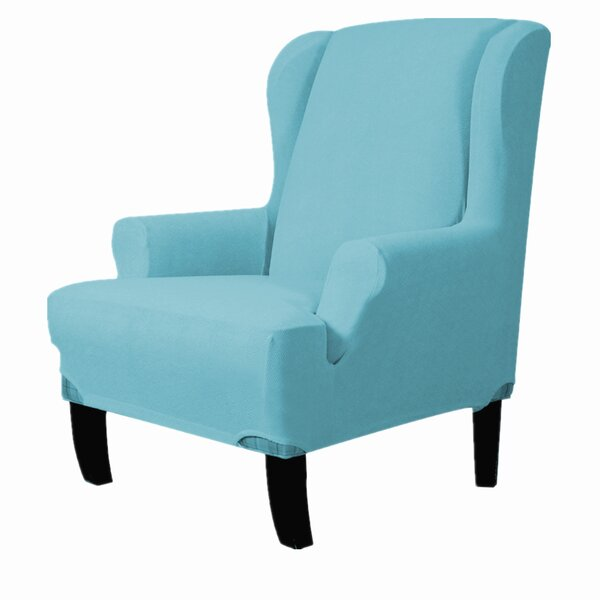 Best Price Ultra Soft T-Cushion Wingback Slipcover