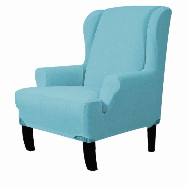 Home & Garden Ultra Soft T-Cushion Wingback Slipcover