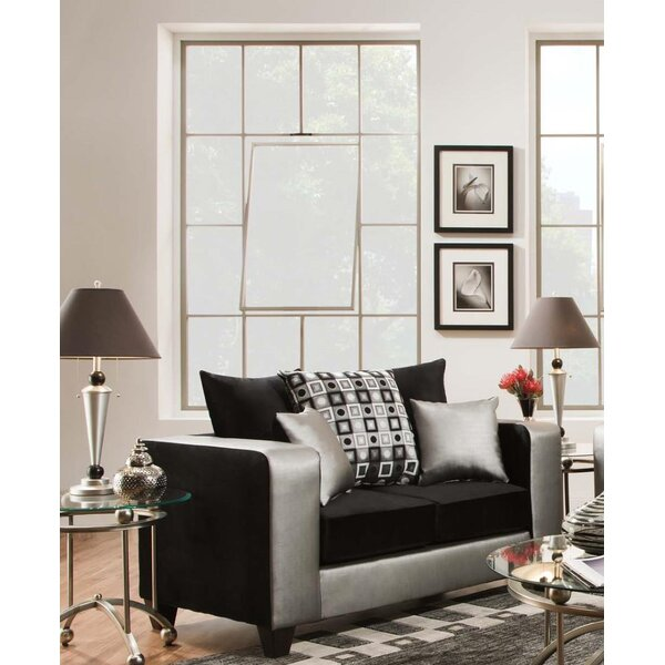 Top Of The Line Belington Shimmer Loveseat by Latitude Run by Latitude Run