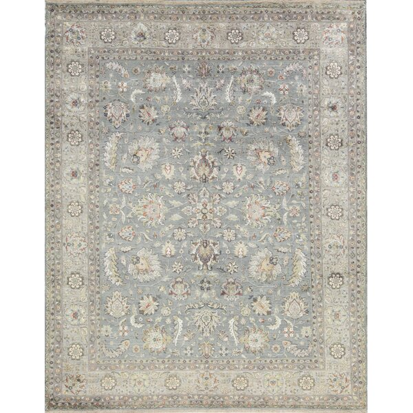 One-of-a-Kind Hand-Knotted Blue/Ivory Indoor Area Rug by Bokara Rug Co., Inc.