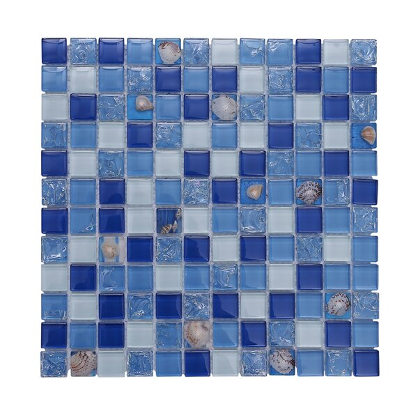 Florida Pool 12 x 12 Glass Mosaic Backsplash Tile in Blue by Vetromani