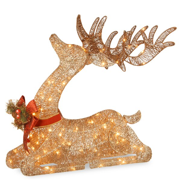 Pre-lit Resting Reindeer by National Tree Co.