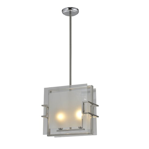 Lidgate 2 - Light Unique Square Chandelier By Latitude Run