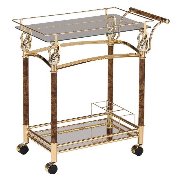 Riggle Serving Bar Cart by House of Hampton House of Hampton