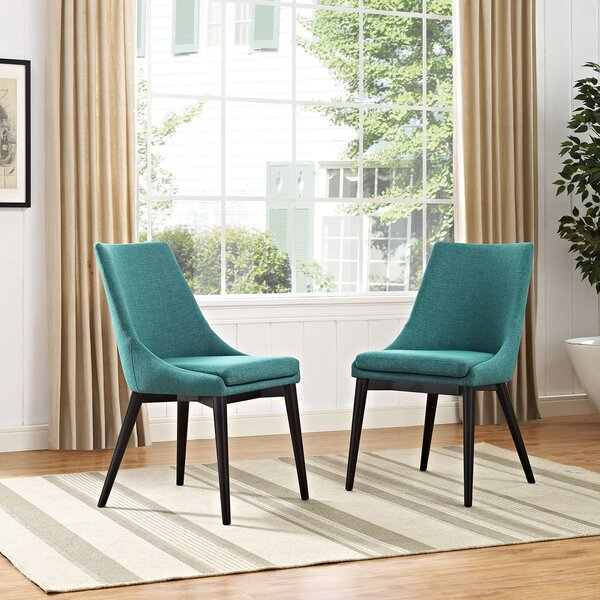 #1 Carlton Wood Leg Upholstered Dining Chair By Corrigan Studio Purchase
